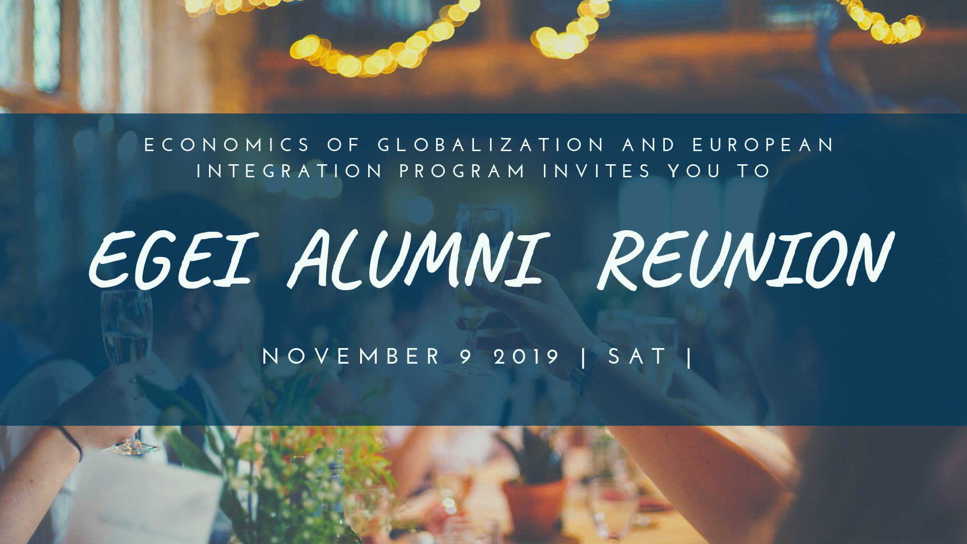 EITEI / EGEI Alumni Reunion, Prague, 9 November 2019